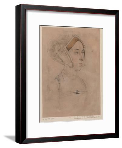 Anne Boleyn-Hans Holbein-Framed Art Print