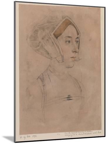 Anne Boleyn-Hans Holbein-Mounted Giclee Print