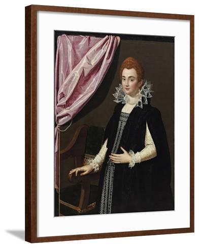 Portrait of Marie De Médici (1575-164)-Scipione Pulzone-Framed Art Print