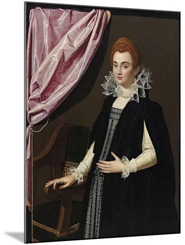 Portrait of Marie De Médici (1575-164)-Scipione Pulzone-Mounted Giclee Print