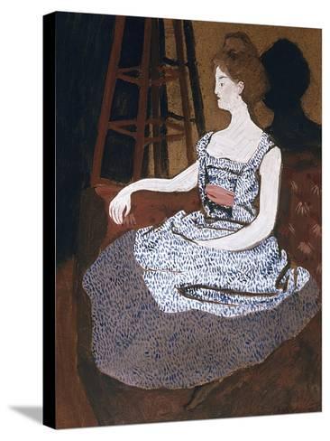 Misia Godebska-Natanson-Felix Edouard Vallotton-Stretched Canvas Print
