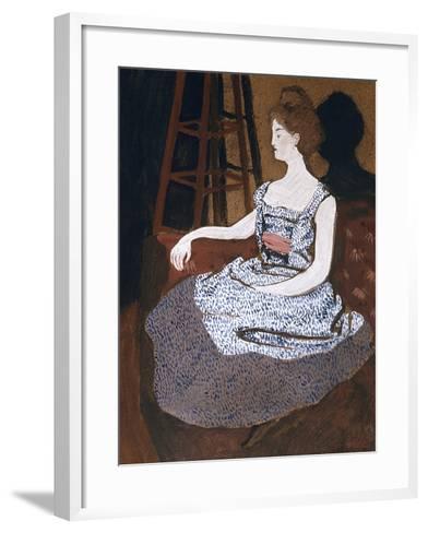 Misia Godebska-Natanson-Felix Edouard Vallotton-Framed Art Print