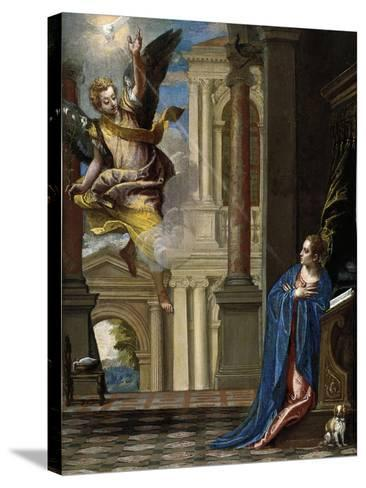 The Annunciation-Paolo Veronese-Stretched Canvas Print