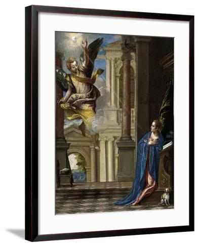 The Annunciation-Paolo Veronese-Framed Art Print