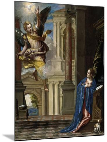 The Annunciation-Paolo Veronese-Mounted Giclee Print