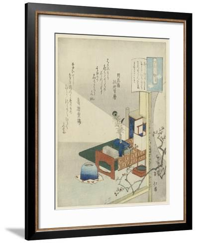 By the Light of a Lamp-Totoya Hokkei-Framed Art Print