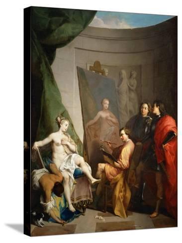 Apelles Painting Campaspe-Nicolas Vleughels-Stretched Canvas Print