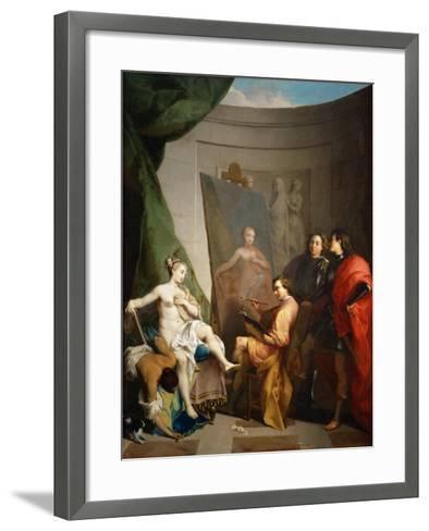 Apelles Painting Campaspe-Nicolas Vleughels-Framed Art Print