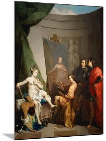 Apelles Painting Campaspe-Nicolas Vleughels-Mounted Giclee Print