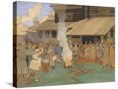 Baptism by Fire-Ivan Yakovlevich Bilibin-Stretched Canvas Print