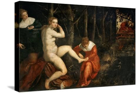 Susanna and the Elders-Jacopo Tintoretto-Stretched Canvas Print