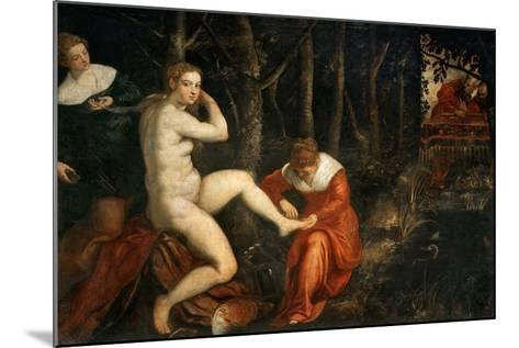 Susanna and the Elders-Jacopo Tintoretto-Mounted Giclee Print