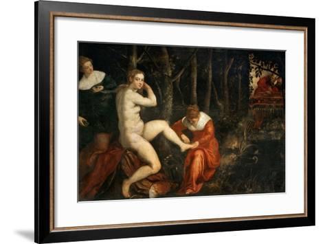 Susanna and the Elders-Jacopo Tintoretto-Framed Art Print