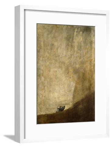The Dog-Francisco de Goya-Framed Art Print