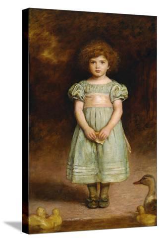 Ducklings-John Everett Millais-Stretched Canvas Print