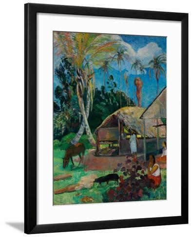 The Black Pigs-Paul Gauguin-Framed Art Print