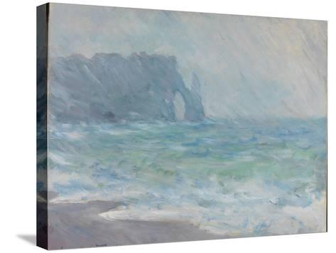Rain in Étretat-Claude Monet-Stretched Canvas Print