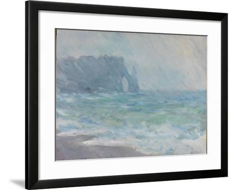 Rain in Étretat-Claude Monet-Framed Art Print