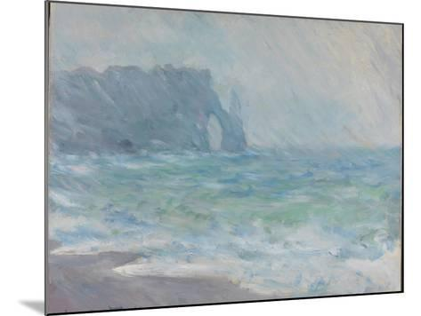 Rain in Étretat-Claude Monet-Mounted Giclee Print