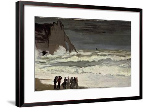 Grosse Mer À Etretat-Claude Monet-Framed Art Print