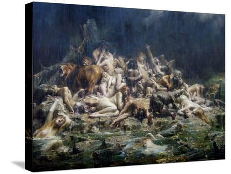 The Deluge-L?on-Fran?ois Comerre-Stretched Canvas Print