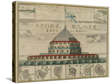 Plan of the Kronstadt Fortress, 1750-Johann Baptist Homann-Stretched Canvas Print