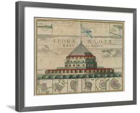 Plan of the Kronstadt Fortress, 1750-Johann Baptist Homann-Framed Art Print