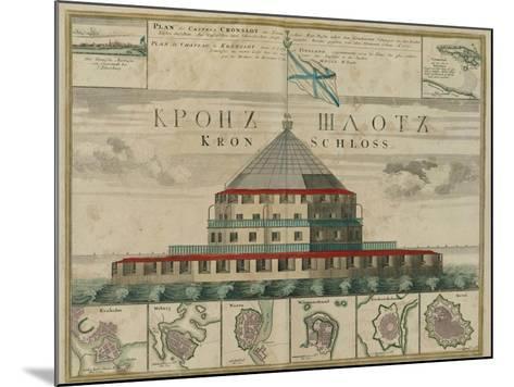 Plan of the Kronstadt Fortress, 1750-Johann Baptist Homann-Mounted Giclee Print