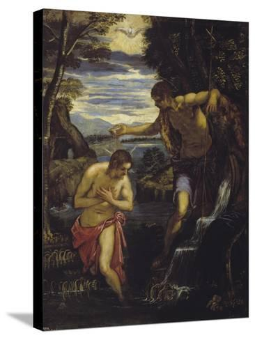 The Baptism of Christ-Domenico Tintoretto-Stretched Canvas Print