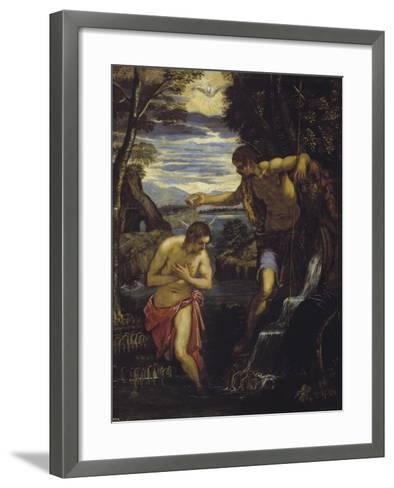 The Baptism of Christ-Domenico Tintoretto-Framed Art Print