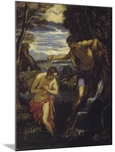 The Baptism of Christ-Domenico Tintoretto-Mounted Giclee Print
