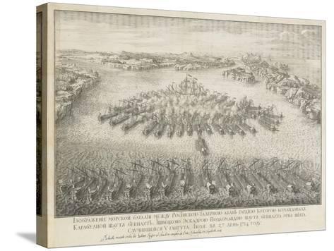 The Naval Battle of Gangut on July 27, 1714-Nicolas de Larmessin-Stretched Canvas Print