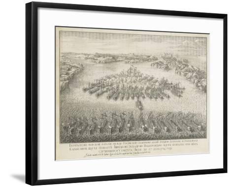 The Naval Battle of Gangut on July 27, 1714-Nicolas de Larmessin-Framed Art Print