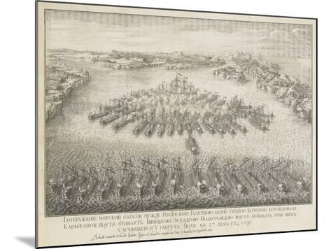 The Naval Battle of Gangut on July 27, 1714-Nicolas de Larmessin-Mounted Giclee Print