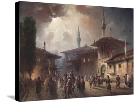 The Bakhchisaray Khan's Palace, 1857-Carlo Bossoli-Stretched Canvas Print