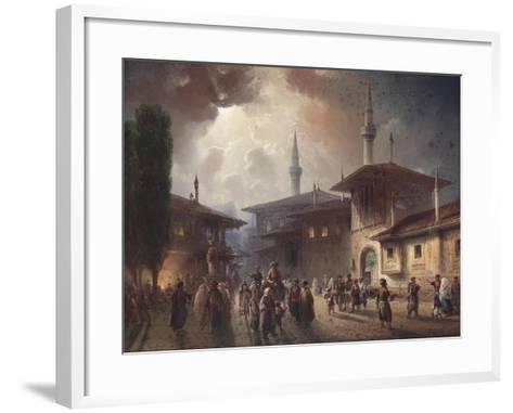 The Bakhchisaray Khan's Palace, 1857-Carlo Bossoli-Framed Art Print