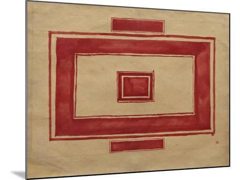 Ceiling Plan for the Red Theatre, Leningrad-Kasimir Severinovich Malevich-Mounted Giclee Print