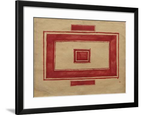 Ceiling Plan for the Red Theatre, Leningrad-Kasimir Severinovich Malevich-Framed Art Print