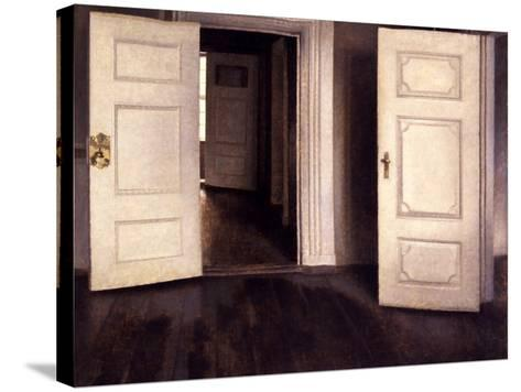 Open Doors-Vilhelm Hammershoi-Stretched Canvas Print