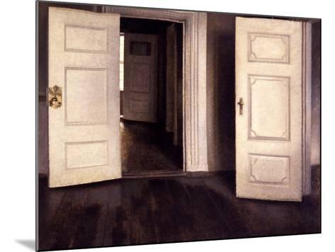 Open Doors-Vilhelm Hammershoi-Mounted Giclee Print