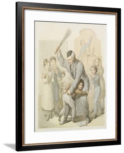 The Punishment in School Classroom-Georg Emanuel Opiz-Framed Art Print