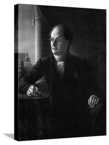 Portrait of the Poet Johan Ludvig Runeberg (1804-187)--Stretched Canvas Print