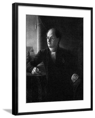 Portrait of the Poet Johan Ludvig Runeberg (1804-187)--Framed Art Print