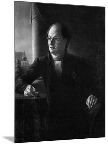 Portrait of the Poet Johan Ludvig Runeberg (1804-187)--Mounted Giclee Print