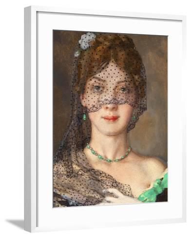 The Lady with the Veil (Manon Lescau)-Konstantin Andreyevich Somov-Framed Art Print