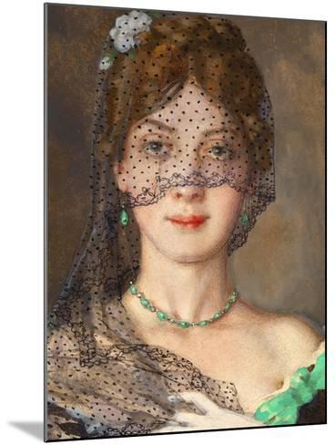 The Lady with the Veil (Manon Lescau)-Konstantin Andreyevich Somov-Mounted Giclee Print