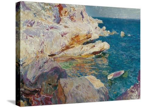 Rock at J?vea-Joaqu?n Sorolla y Bastida-Stretched Canvas Print
