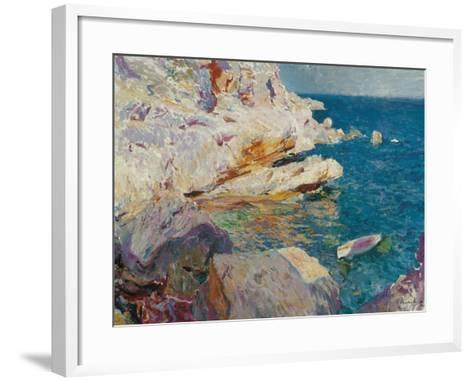 Rock at J?vea-Joaqu?n Sorolla y Bastida-Framed Art Print