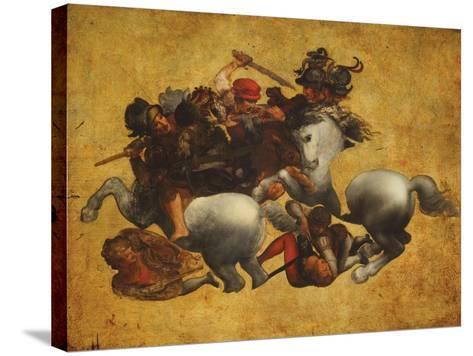 Tavola Doria-Leonardo da Vinci-Stretched Canvas Print