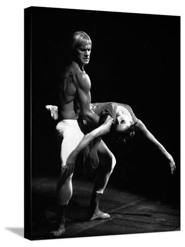 Maya Plisetskaya and Alexander Godunov in the Ballet the Death of the Rose by Gustav Mahler, 1974--Stretched Canvas Print